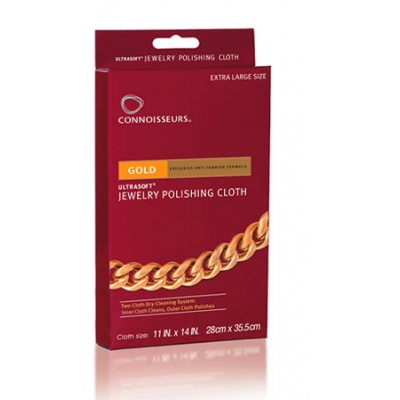 Connoisseurs Gold Jewelry Polishing Cloth
